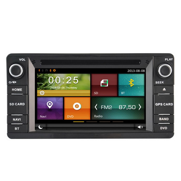 Cartouch(R) CT-6248 6.2 Car DVD Player w/ GPS, Radio - Black + GreyCar DVD Players<br>Form  ColorBlack GreyModelCT-6248Quantity1 DX.PCM.Model.AttributeModel.UnitMaterialMetal + plasticStyleSpecial In-DashFunctionBuilt-in speaker,GPS,Radio,iPod playing,Remote Control,Steering Wheel ControlCompatible MakeOthers,MitsubishiCompatible Car ModelMitsubishi Outlander 2013Compatible Year2013Screen Size6.2 inchesScreen Resolution800 * 480Touch Screen TypeYesDetachable PanelNoBrightness ControlYesMenu LanguageEnglish,French,German,Italian,Spanish,Portuguese,Russian,Polish,Thai,Persian,Malay,Chinese Simplified,Chinese TraditionalCPU Processor700Support MapIGO,TOMTOM,Sygic,CarelandStore Capacity256 DX.PCM.Model.AttributeModel.UnitMemory Card SlotStandard SD CardVoice Guidance CruiseNoGPS Dual ZoneNoOperating SystemWin CE 6.0Audio FormatsMP3,WMA,APE,FLAC,AACVideo FormatsRM,RMVB,AVI,MKV,MOV,FLVPicture FormatsJPEG,BMP,PNG,GIFStation Preset Qty.18Support RDSNoRadio Response BandwidthAM: 520KHz-1700KHz,FM: 87MHz-110MHzRDSYesRadio TunerFMBuilt-in MicrophoneYesBluetooth FunctionReceived Call,Dialled CallBluetooth VersionBluetooth V2.0TV Signal TypeAnalog TV tunerVideo OutputPAL,NTSCAmplifier Peak Power4 * 45 DX.PCM.Model.AttributeModel.UnitAudio ModeNatural,Rock,Jazz,Classical,Live,Dancing,PopularAudio Input1 channelAudio  Output2 ChannelsRearview Camera InputYesExternal Memory Max. Support32 DX.PCM.Model.AttributeModel.UnitVideo Input1 channelVideo Output2 channelsWorking Voltage   12 DX.PCM.Model.AttributeModel.UnitWorking Temperature-35~45 DX.PCM.Model.AttributeModel.UnitStorage Temperature20CPacking List1 * DVD player1 * Remote control (with a battery)1 * Power cable (25cm)1 * RCA cable (20cm)1 * Microphone (300cm)1 * USB cable (100cm)1 * GPS antenna (300cm)1 * DVD USB cable (20cm)1 * TPMS + DVR wire (20cm)1 * English user manual<br>