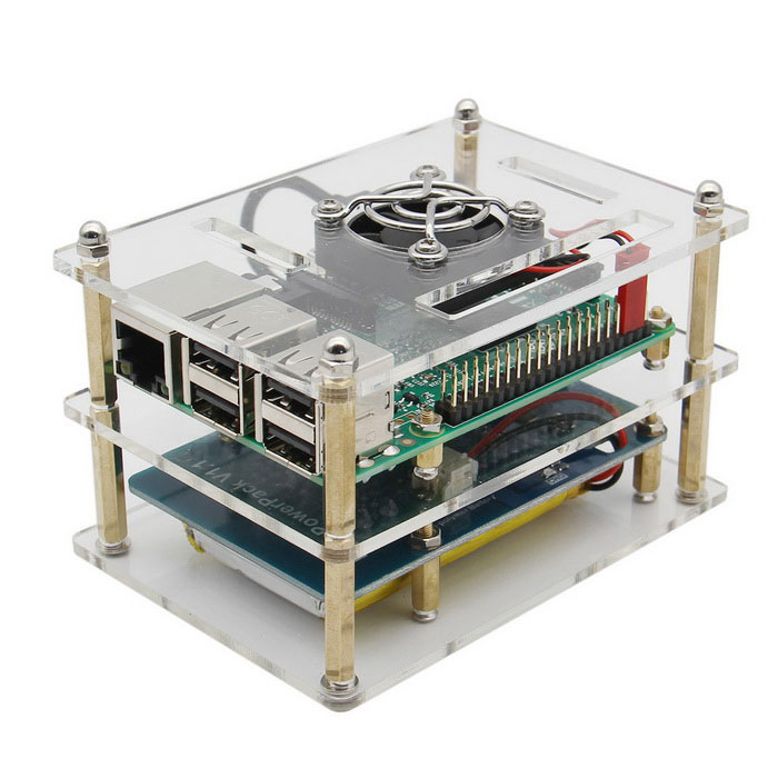 Raspberry pi 3 board bateria caso fan dissipador for Raspberry pi 3 architecture