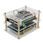 Raspberry Pi 3 + Battery Board + Case + Fan + Heatsink + USB Cable Kit