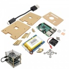 Raspberry Pi 3 + Board Bateria + Caso + Fan + dissipador de calor + Kit Cabo USB