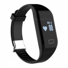 H3 Waterproof 3ATM Bluetooth Smart Watch Heart Rate Monitor - Black