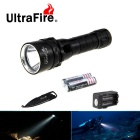 Ultrafire XM-L2 Cool White Diving Flashlight w/ Keychain Knife - Black