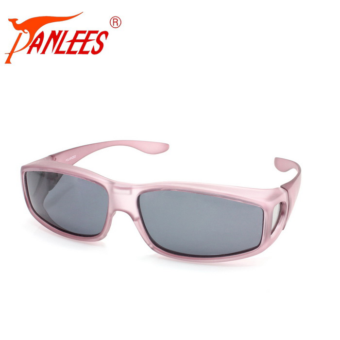Panlees DE502 Unisex UV400 Protection Polarized Sunglasses - Pink