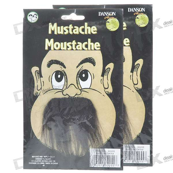 Costume Party Cosplay Artificial Beards/Mustache - Black (2-Pack)