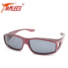 Panlees DE502 Unisex UV400 Protection Polarized Sunglasses - Wine Red