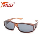 Panlees DE502 Unisex UV400 Protection Polarized Sunglasses - Brown