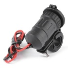 Iztoss 4.2A Dual USB Charger & Red LED Light Voltmeter - Black
