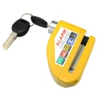 IZTOSS L1003Y 6mm Motorcycle Waterproof Alarm Lock Disc-Lock - Yellow