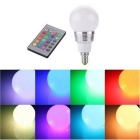 KWB E14 3W RGB LED Light Bulb Lamp Spotlight with Remote Control