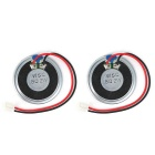 8ohm 2W 36mm Speaker w/ Outer Magnet / XH2.54 Cable - Black (2PCS)
