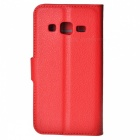 Leather Stand Case for Samsung Galaxy Core Prime G3608 -Watermelon Red