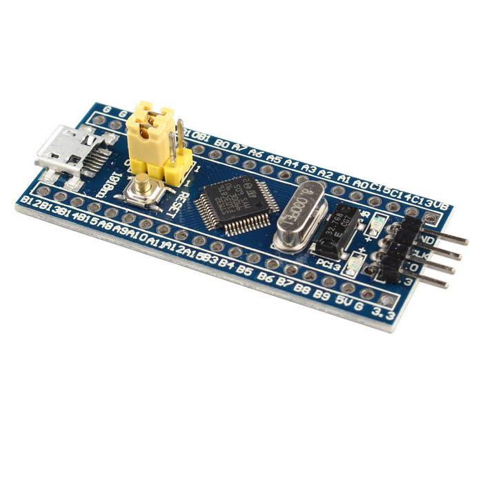 STM32F103C8T6 ARM CCortex-M3 STM32 Minimum System Board - BlueBoards &amp; Shields<br>Form ColorBlueModelN/AQuantity1 DX.PCM.Model.AttributeModel.UnitMaterialFR4ChipsetSTM32F103C8T6English Manual / SpecYesDownload Link   http://pan.baidu.com/s/1ge5XEs7Packing List1 * STM32F103C8T6 development board1 * Pin headers (2.54mm pitch)<br>