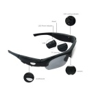 8.0MP 1080P Sports Sunglasses DVR w/ 8GB TF Card - Black