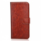 Protective Anti-slip Abrasion Resistance Dustproof Full Body PU Leather Case w/ Stand / Card Slots