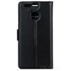 Lychee Pattern Protective PU Case for Huawei P9 - Black