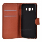 Lichee Pattern Protective Case for Samsung Galaxy A3 - Brown
