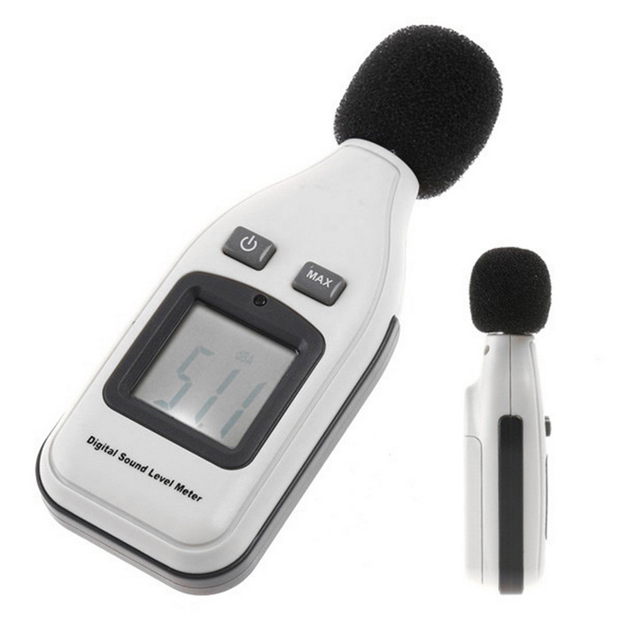 "2.5"" LCD Digital Sound Level Meter - White + Black"