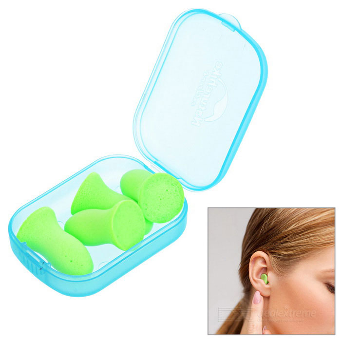 NatureHike Noise Reduction Sound Insulation Mute Earplugs - GreenForm  ColorGreenQuantity1 DX.PCM.Model.AttributeModel.UnitMaterialPolyurethaneTypeOthers,EarplugsPacking List4 * Earplugs1 * Chinese / English user manual1 * Case<br>