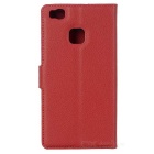 Lichee Pattern Protective Case for Huawei P9 Lite - Watermelon Red