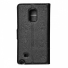 Lychee Pattern Protective PU Case for Samsung Note Edge - Black