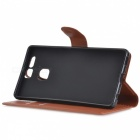 Lychee Pattern Protective PU Case for Huawei P9 - Brown