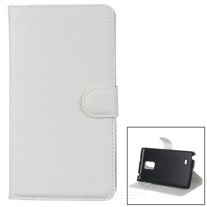 Lychee Pattern Protective PU Case for Samsung Note Edge - White