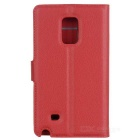 Lychee Pattern Protective Case for Samsung Note Edge - Watermelon Red