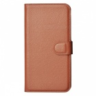 Lichee Pattern Protective Case for Samsung Galaxy Note 4 - Brown