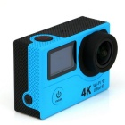 "H8R 4K Dual 2.0"" TFT Screen Sports Cycling Diving Camera - Blue"