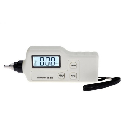 Portable Digital Backlit LCD Vibration Analyzer Tester - White