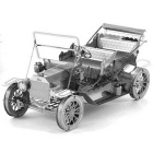 Vintage Car Style Three Dimensional Metal Puzzle Toy - Antique Silver