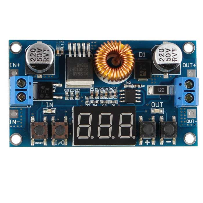 Adjustable 5A 75W DC Step Down Numerical Control Digital Voltmeter