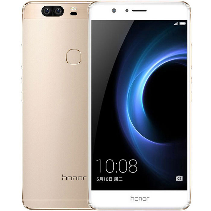 "Huawei honor V8 5.7"" FHD 12MP android 6.0 LTE smartphone - de oro"