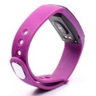 "ZS107 0.49"" OLED Bluetooth Smart Watch w/ Heart Rate Monitor - Purple"