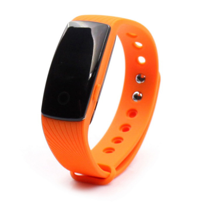 "ZS107 0.49"" OLED Bluetooth Smart Watch w/ Heart Rate Monitor - Orange"