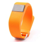 "0.49"" Touch Screen Bluetooth Smart Watch Heart Rate Monitor - Orange"