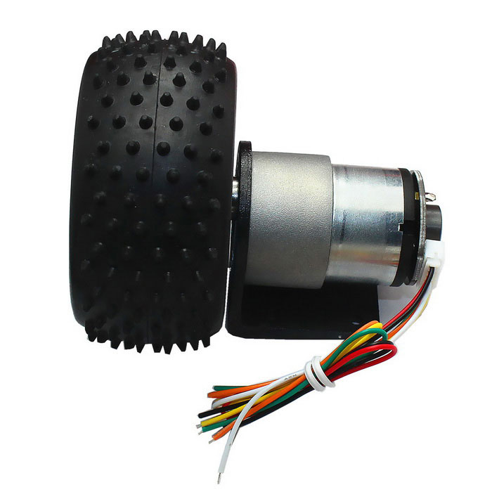 6v 160rpm dc gear motor with hall encoder black free for Dc gear motor with encoder