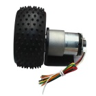 6V 160RPM DC Gear Motor with Hall Encoder - Black