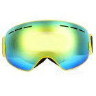 BE NICE SNOW3100 Anti-Fog Spherical Lens Skiing Goggles - Yellow