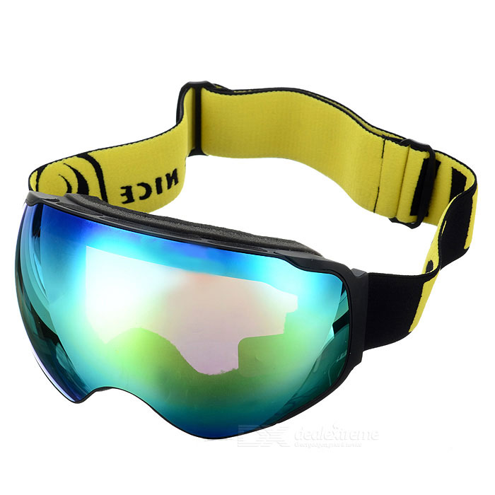 BE NICE SNOW4200 Anti-Fog Spherical Lens Skiing Goggles - Black