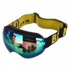 Yellow REVO Lens Unisex Outdoor Snow Snowboard Ski Protective Eyewear, Can Hold Myopic Glasses