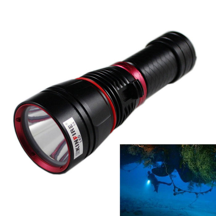 KINFIRE XM-L2 LED 3-Mode 900lm IPX8 180m Waterproof Diving Flashlight
