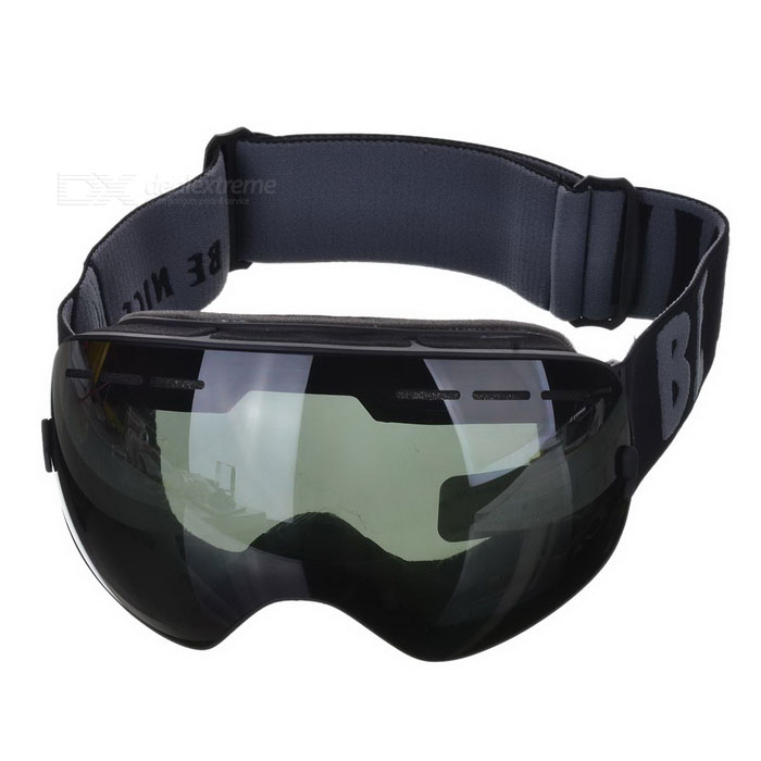 BE NICE SNOW3100 Anti-Fog Spherical Lens Skiing Goggles - Black