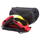 BE NICE SNOW4200 Anti-Fog Spherical Lens Skiing Goggles - Red