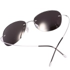 Reedoon RD0077 Pure Titanium Polarized Sunglasses - Silver + Grey