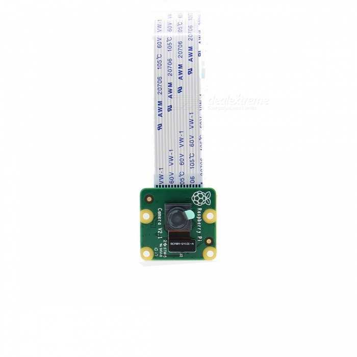 Original Official 8MP Camera Board V2 for Raspberry Pi - White + GreenRaspberry Pi<br>Form  ColorWhite + Green + Multi-ColoredModelRev 2.1Quantity1 DX.PCM.Model.AttributeModel.UnitMaterialElectric ComponentEnglish Manual / SpecYesDownload Link   http://www.raspberrypi.org/CertificationCE &amp; FCCPacking List1 * Camera Board (FFCcable length: 15cm)1 * English User Manual<br>