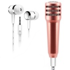 DIEWU Condenser Mini Microphone w/ Earphone - Rose Gold