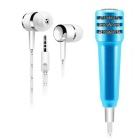 DIEWU Condenser Mini Microphone w/ Earphone - Sky Blue