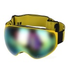 BE NICE SNOW4200 Anti-Fog Spherical Lens Skiing Goggles - Yellow