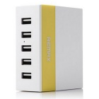 REMAX 1A / 2.1A / 2.4A 5 Ports USB Charger  - White + Yellow (US Plug)